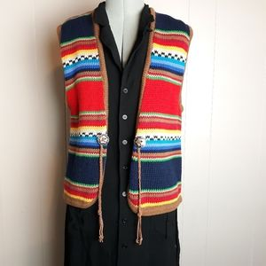 80s Chaus sport western country knit vest